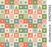 traditional retro christmas... | Shutterstock .eps vector #348293063