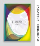 vector  business brochure or... | Shutterstock .eps vector #348314927