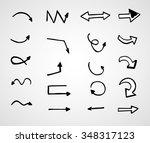 hand drawn arrows  vector set | Shutterstock .eps vector #348317123