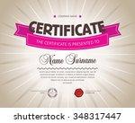 certificate design template.   Shutterstock .eps vector #348317447