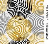 Seamless Yellow Circle Abstrac...