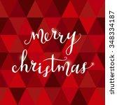 merry christmas. hand drawn... | Shutterstock .eps vector #348334187