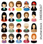 set of flat icons set with... | Shutterstock .eps vector #348338267