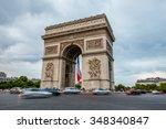 paris  france july 20  arc de... | Shutterstock . vector #348340847