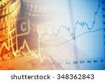 finance background with chart... | Shutterstock . vector #348362843