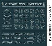 vintage logo generator. vector... | Shutterstock .eps vector #348373967