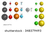 comparison of atomic and ionic... | Shutterstock .eps vector #348379493