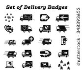 autotruck  delivery sign  icons ... | Shutterstock .eps vector #348393653