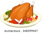 vector illustration of a cooked ... | Shutterstock .eps vector #348399047
