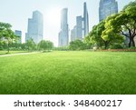 park in lujiazui financial... | Shutterstock . vector #348400217