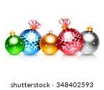 Set Of 5 Colorful Christmas...