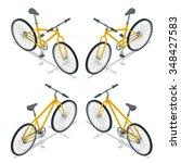 isometric yellow bicycle. eco... | Shutterstock .eps vector #348427583