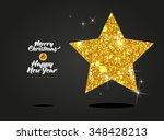 bright diamond gold card for...   Shutterstock .eps vector #348428213