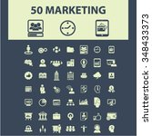 marketing  market icons  signs... | Shutterstock .eps vector #348433373