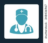 physician vector icon. style is ... | Shutterstock .eps vector #348436967