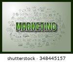 business success and marketing...   Shutterstock . vector #348445157