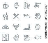 restaurant icon set suitable... | Shutterstock .eps vector #348452657