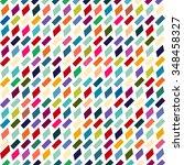 retro pattern of geometric... | Shutterstock .eps vector #348458327