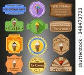ice cream  multiple styles... | Shutterstock .eps vector #348473723