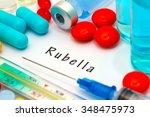 rubella   diagnosis written on... | Shutterstock . vector #348475973