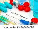 lowered immunity   diagnosis... | Shutterstock . vector #348476387