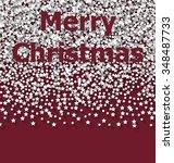 lettering merry christmas on...   Shutterstock . vector #348487733