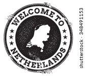 vintage passport welcome stamp... | Shutterstock .eps vector #348491153