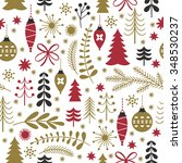 seamless christmas pattern | Shutterstock .eps vector #348530237