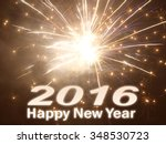 happy new year 2016     | Shutterstock . vector #348530723