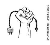 digital fist. vector...   Shutterstock .eps vector #348531533