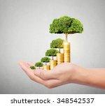 concept of money growing from... | Shutterstock . vector #348542537