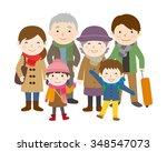 family trip   winter | Shutterstock .eps vector #348547073