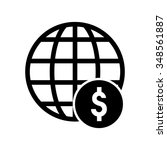 global dollar icon | Shutterstock .eps vector #348561887