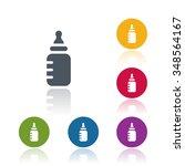 baby milk bottle icon | Shutterstock .eps vector #348564167
