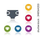 diaper icon | Shutterstock .eps vector #348564203