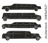Set Of Four Black Limousines....