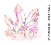 Pink Crystal Cluster Painted I...