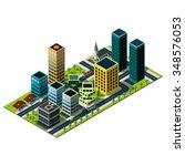 modern isometric city map. set... | Shutterstock .eps vector #348576053