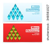 holiday christmas banners.... | Shutterstock .eps vector #348581027