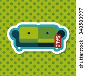 shopping sale sofa flat icon... | Shutterstock .eps vector #348583997