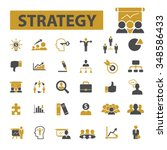 strategy  icons  signs vector... | Shutterstock .eps vector #348586433