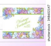vintage delicate invitation... | Shutterstock . vector #348602147