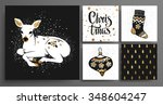 christmas and new year's ... | Shutterstock .eps vector #348604247