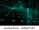digital technology abstract... | Shutterstock . vector #348607187