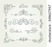 calligraphic decorative... | Shutterstock .eps vector #348627947