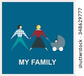 my family.vector flat... | Shutterstock .eps vector #348629777