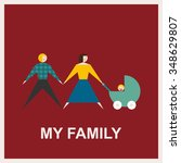 my family.vector flat... | Shutterstock .eps vector #348629807