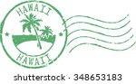 green postal grunge stamp '... | Shutterstock .eps vector #348653183