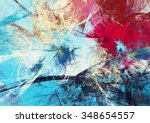abstract beautiful red and blue ... | Shutterstock . vector #348654557