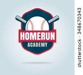 baseball badge sport logo team... | Shutterstock .eps vector #348670343